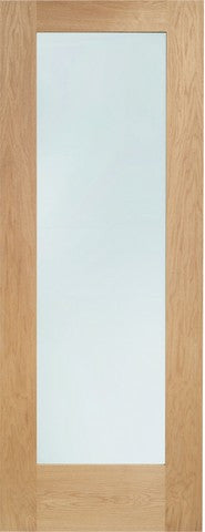 Xl Joinery Internal Oak Pattern 10 With Clear Glass Door - Internal Doors