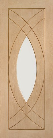 Xl Joinery Internal Oak Treviso With Clear Glass Door - Internal Doors