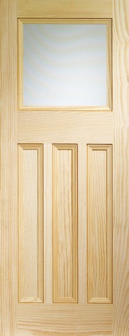 Xl Joinery Internal Vertical Grain Clear Pine Vine Dx With Obscure Glass Door - Internal Doors