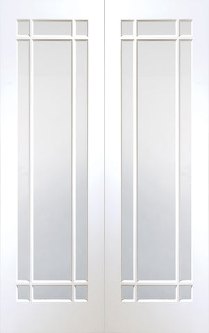 Buy Xl Joinery Internal White Primed Cheshire With Clear Bevelled