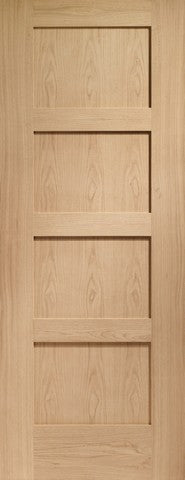 Xl Joinery Internal Oak Shaker 4 Panel Door - Internal Doors