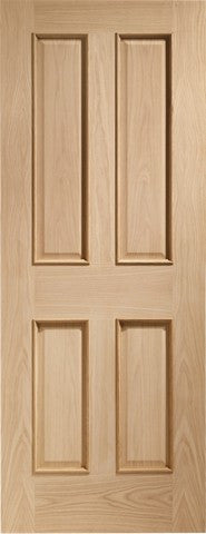 Xl Joinery Internal Oak Victorian 4 Panel Fire Door With Raised Mouldings - Internal Doors
