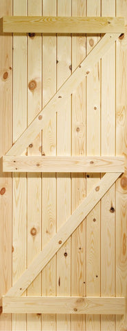 XL Joinery Ledged and Braced Pine Shed Door / Gate