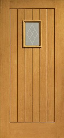 Xl Joinery Pre-Finished External Oak Double Glazed Chancery Door Set - External Doors
