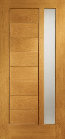 Xl Joinery Pre-Finished External Oak Double Obscure Glazed Modena Door Set - External Doors
