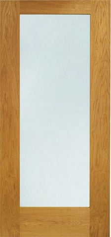 Xl Joinery Pre-Finished External Oak Double Clear Glazed Pattern 10 Door Set - External Doors