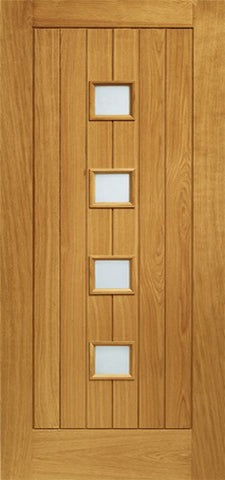 Xl Joinery Pre-Finished External Oak Double Obscure Glazed Siena Door Set - External Doors