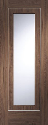 Xl Joinery Internal Pre-Finished Walnut Varese Clear Glass Door - Internal Doors