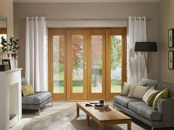 Xl Joinery External Pre-Finished Oak La Porte French Door Set With Sidelight - External Doors