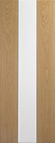 Xl Joinery Internal Pre-Finished White & Oak Pescara Door - Internal Doors