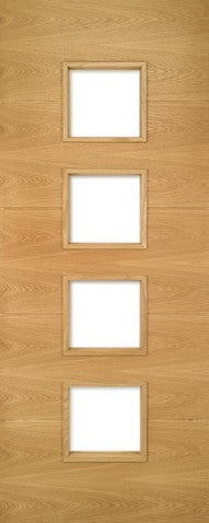 Deanta Augusta Prefinished Oak Glazed Fire Door