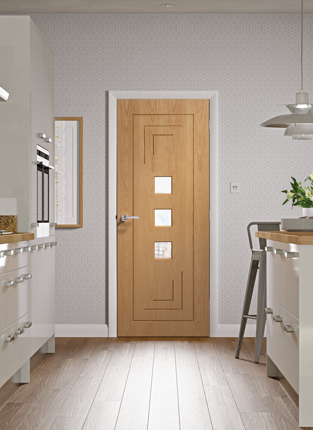 Buy Xl Joinery Internal Oak Pre Finished Altino With Clear Glass