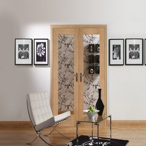 Xl Joinery Internal Oak Pattern 10 Door Pair With Clear Glass - Internal Doors