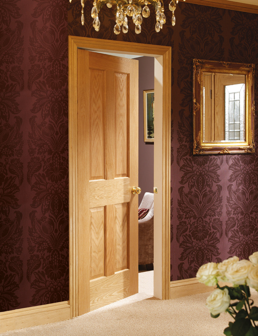 Buy Xl Joinery Internal Oak Victorian Shaker 4 Panel Door Online Now