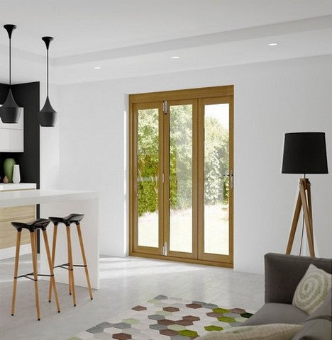 Xl Joinery External Pre-Finished Oak La Porte Vista 8 Bi-Fold Door System - External Doors