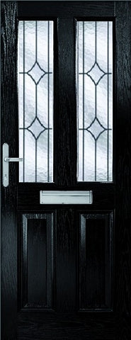XL Joinery External Malton Composite Doorset with Decorative Glass