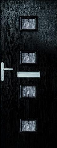 XL Joinery External Chancery Composite Doorset with Decorative Glass