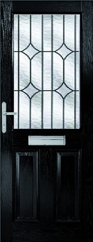 XL Joinery External 2XG Composite Doorset with Decorative Glass