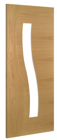 Deanta Doors Internal Cadiz Oak Glazed Pre-Finished Door - MODA Doors