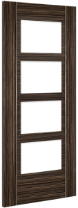 Deanta Doors Internal Calgary Clear Glazed Abachi Wood Door - MODA Doors