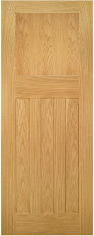 Deanta Cambridge Unfinished Oak Fire Door