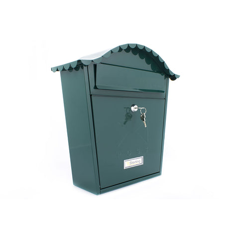 Sterling Post Box Mb01 In Green - Post Boxes