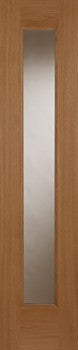 Mendes External Oak Contemporary Sidelight - External Doors