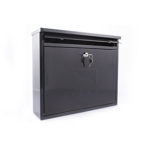 Sterling Post Box Mb02Bk In Black - Post Boxes
