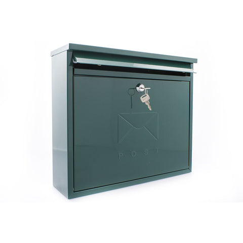 Sterling Post Box Mb02G In Green - Post Boxes