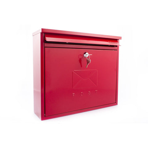 Sterling Post Box Mb02R In Red - Post Boxes