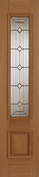 Mendes External Oak Empress Sidelight - External Doors