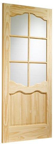 Xl Joinery Internal Clear Pine Riviera With Clear Glass Door - Internal Doors