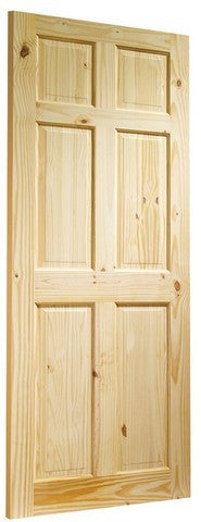Xl Joinery Internal Knotty Pine Colonial 6 Panel Door - Internal Doors