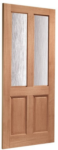 Xl Joinery Dowelled Malton Obscure Glass With Double Glazing Door - External Doors