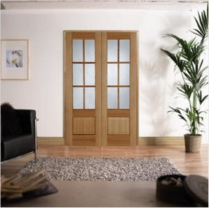 Mendes Internal Pre-Finished Oak Hampstead Door Pair - Internal Doors