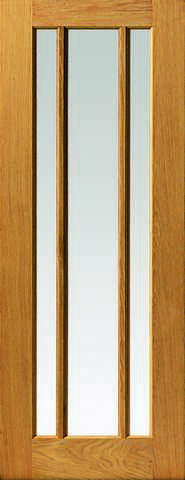 Jb Kind Internal Oak Darwen Unfinished Glazed Door - Internal Doors