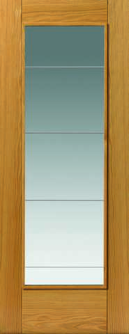 Jb Kind Internal Oak Medina Pre-Finished Glazed Door - Internal Doors