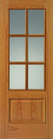 Jb Kind Internal Oak 12-6Vm Pre-Finished Glazed Door - Internal Doors