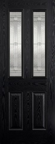 Lpd External Grp Black & White Malton Glazed Door - External Doors