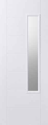 Lpd External Grp White Newbury Glazed Door - External Doors
