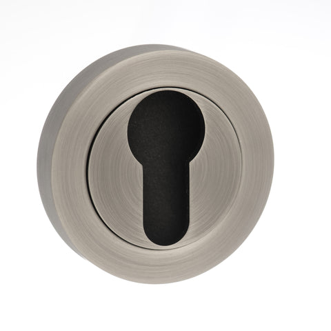 Old English Euro Escutcheon in a Matt Gun Metal Finish - MODA Doors
