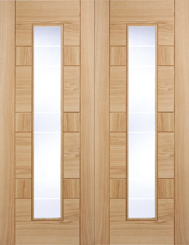 Lpd Internal Pairs Oak Prefinished Edmonton Glazed Door - Internal Doors