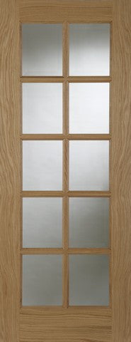 Mendes Internal Oak 10 Light Door - Internal Doors