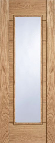 Mendes Internal Pre-Finished Oak Corsica 1 Light Door - Internal Doors