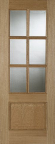 Mendes Internal Oak Iris 6 Light Door - Internal Doors
