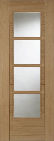 Mendes Internal Pre-Finished Oak Iseo Central 4 Light Deluxe Door - Internal Doors