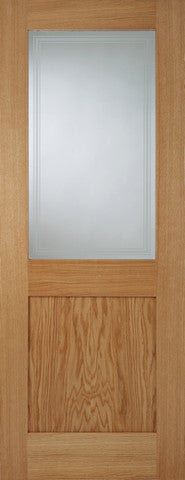 Mendes Internal Oak Marlborough 1 Light Door - Internal Doors
