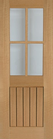 Mendes Internal Oak Mexicano 4 Light Door - Internal Doors