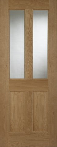Mendes Internal Oak Oxford 2 Light Door - Internal Doors