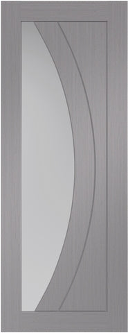 Xl Joinery Internal Light Grey Pre-Finished Salerno With Clear Glass Door - Internal Doors
